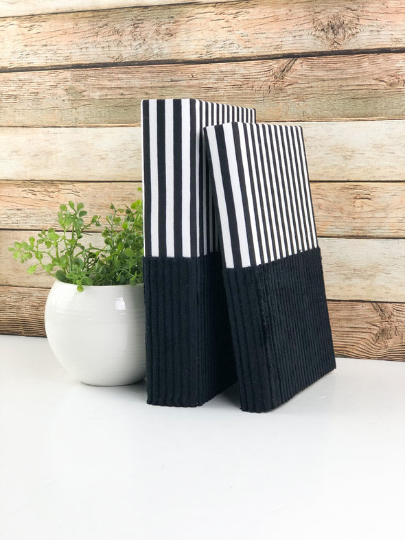 Linen Covered Books for Home Decor