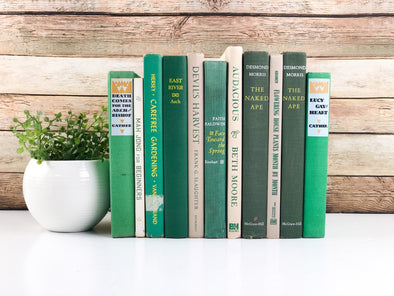 Green and Yellow Stack of Books