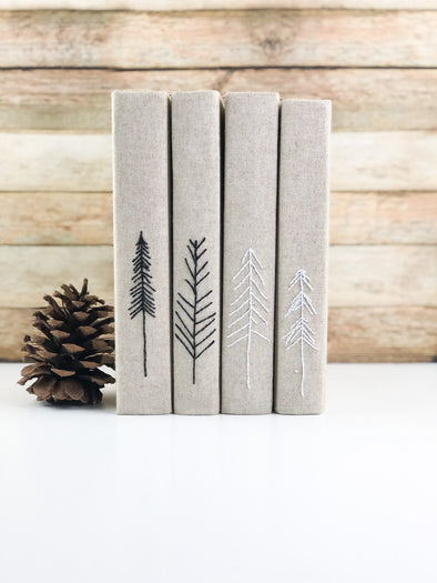 Christmas Tree Decor / Winter Shelf Decor / Decorative Books