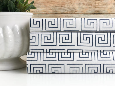 Blue Geometric Fabric Covered Books
