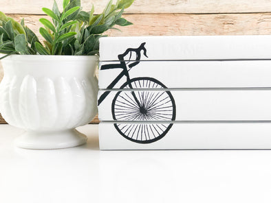 Bicycle Shelf Decor / Decorative Books