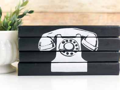 Black and White Vintage Telephone