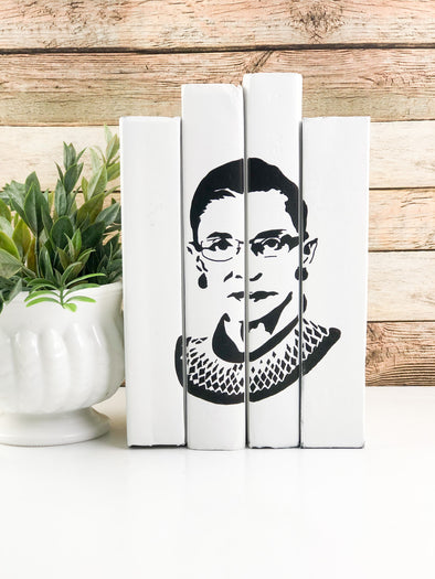 Ruth Bader Ginsberg Decorative Book Set / Modern Home Decor