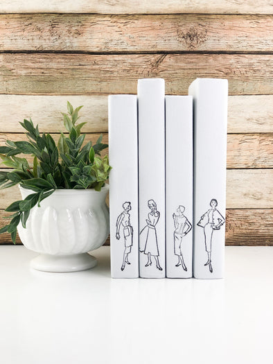Vintage Book Set for Shelf Decor / Vintage Ladies