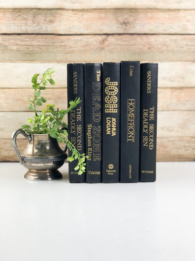Black Bookshelf Decor