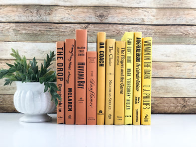 Yellow and Orange Books for Decor