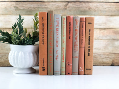 Orange Bookshelf Decor