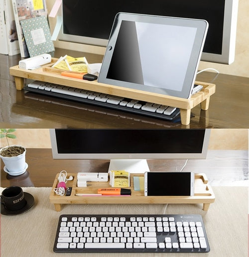 Natural Wood Desktop Organizer