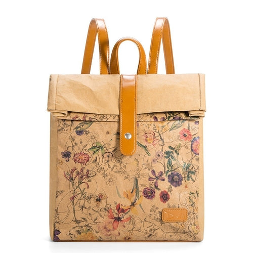 Veg Bekka™ Kraft Paper Printed Casual Backpack