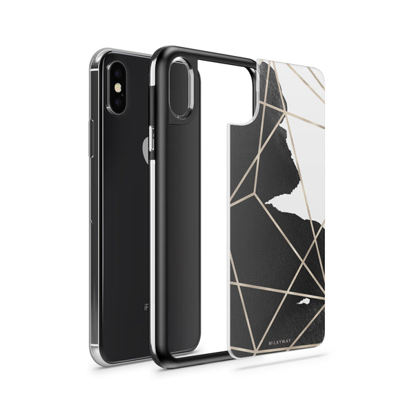 Geometric Stroke - Slate iPhone Case