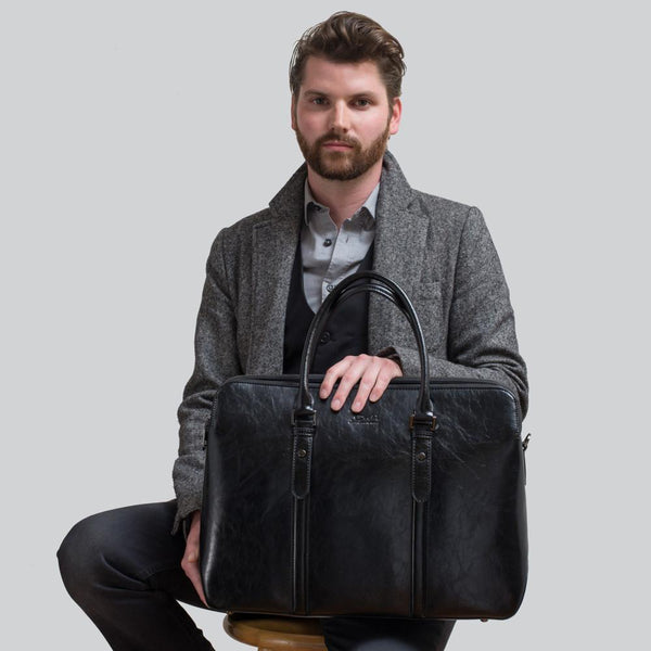 Hugo Bane™ Large Microfiber Briefcase