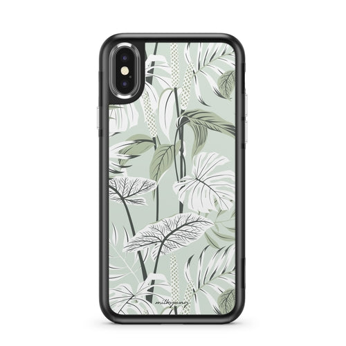 Tropical Mint - Slate iPhone Case