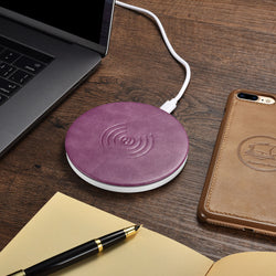 Sullivan Leather Wireless Fast Charger for iPhone & Samsung