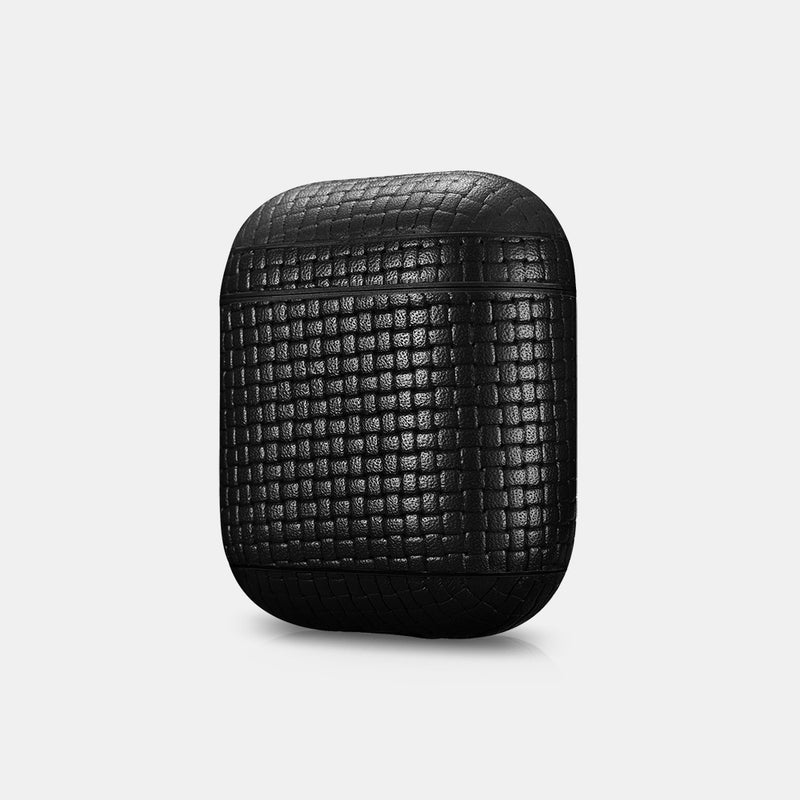 Make Waves™ Woven Pattern Leather AirPod Protective Case