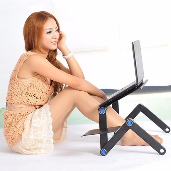 Lynx's™ Portable Adjustable Laptop Desk Stand With Mouse Pad
