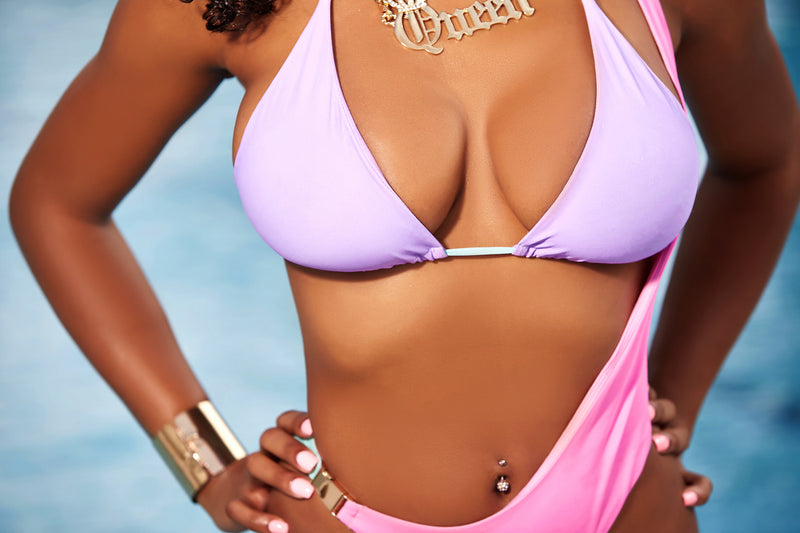 Lilac Licorice Buckled Bikini Bottom