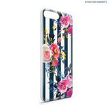 DELICATE PEONY FLOWER BLUE STRIPED - iPhone 8 - Kim Concept | Show your Passion