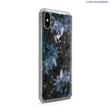 BLUE ASTERS WATERCOLOR - iPhone X - Kim Concept | Show your Passion