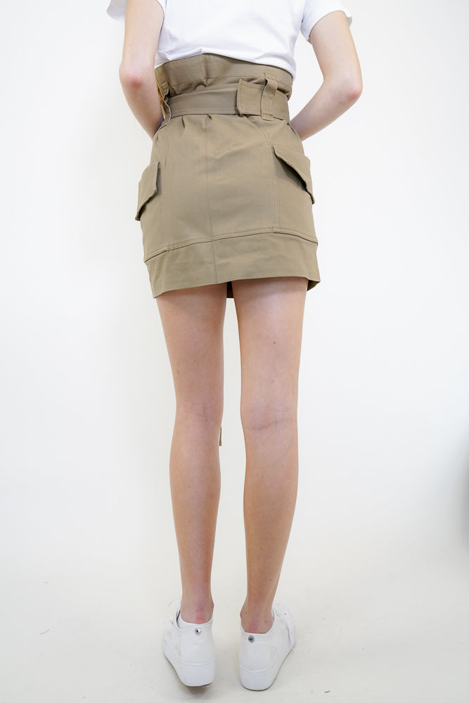 HADLEY Belted Mini Skirt