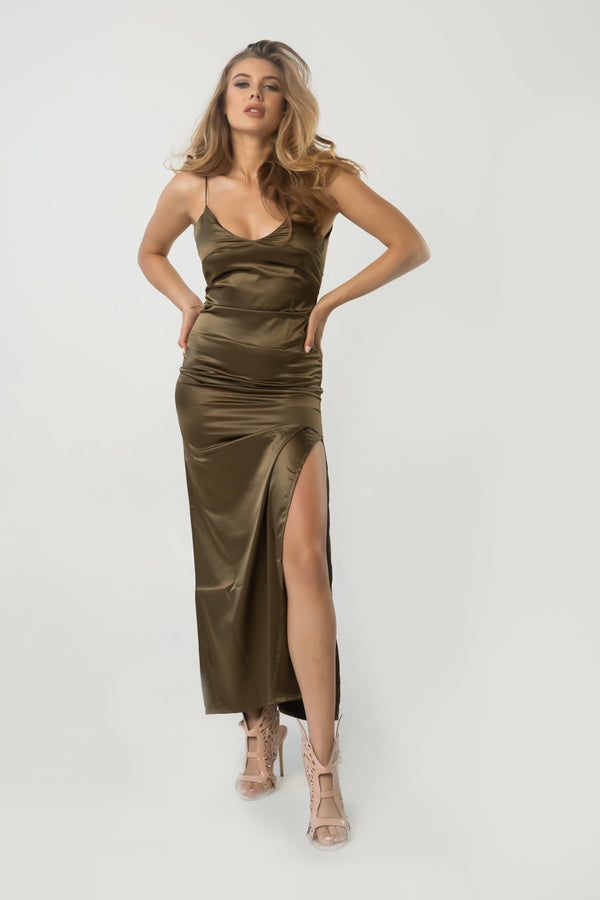 Jonna Maxi Satin Dress
