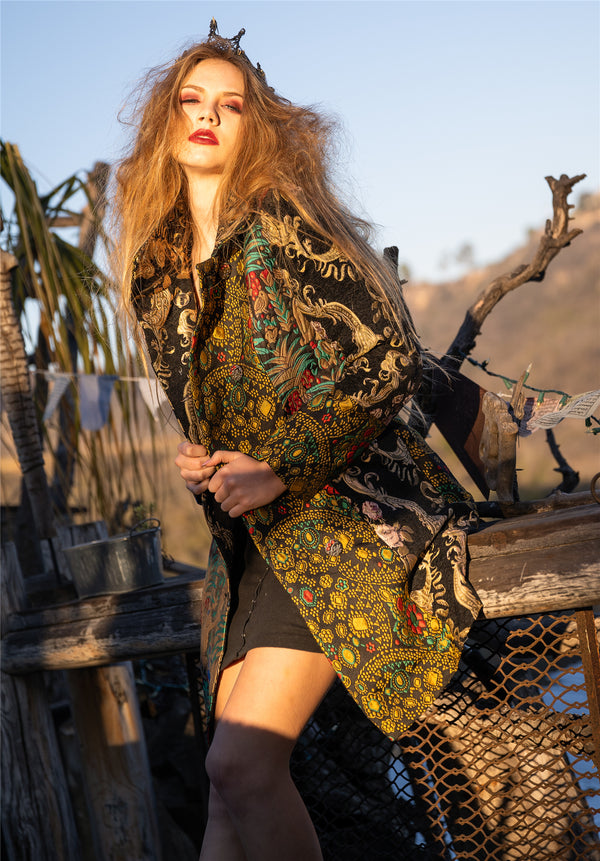 Autumn Floral Coat