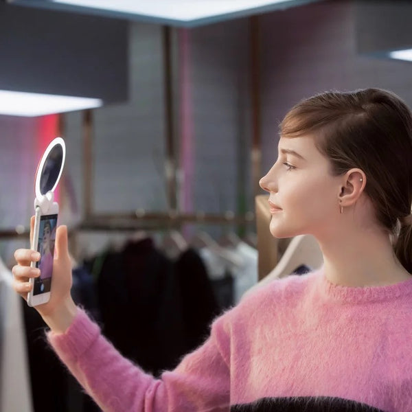Wonder Smart Mirror 360° Integrated Light Angel Ring With Wireless charging Pad