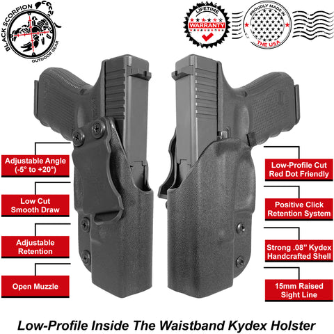 Black Scorpion Outdoor Gear IWB Kydex Holster - Low Profile