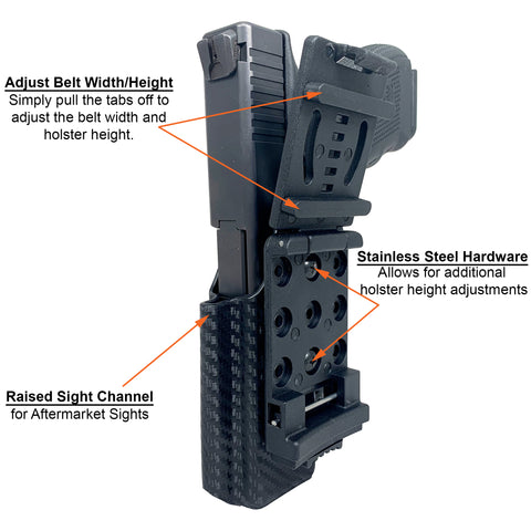 IDPA Holster Diagram Back