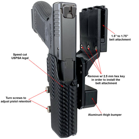 Pro Competition Holster Diagram