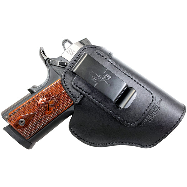 Black Leather IWB Holster 5'' x 3 7/8''