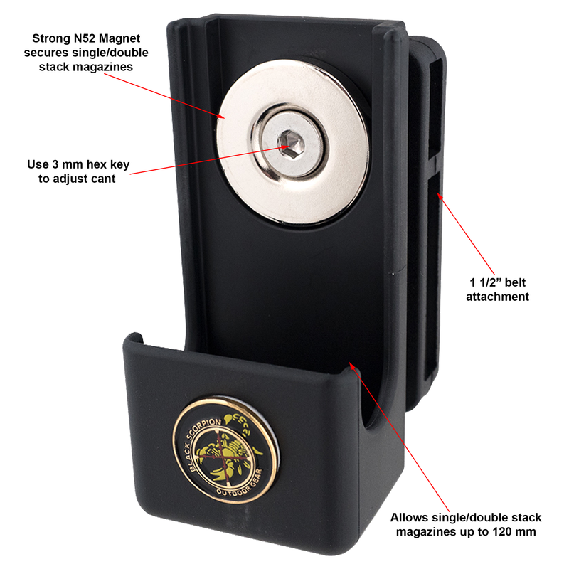 Single/Double Stack Competition Magnetic Magazine Pouch