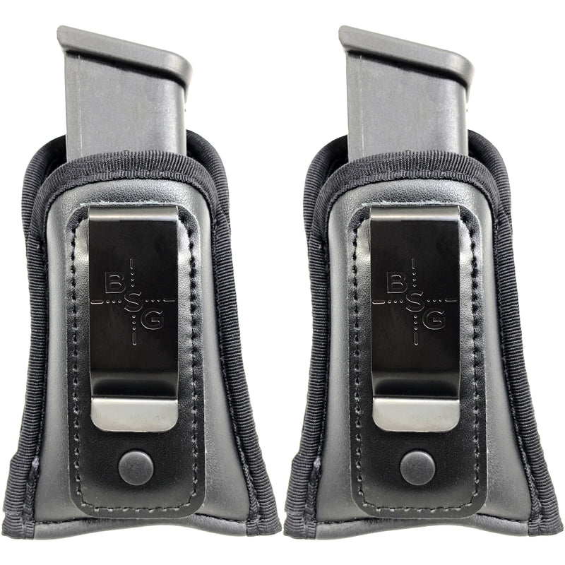 2 Pcs IWB Magazine Pouches for Glock Double Stack Mags