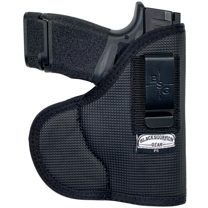 Black Scorpion Gear IWB and Pocket Holster | Fits Glock 42, 43, 43X; Ruger LC9S; Sig Sauer P365; Taurus Millennium G2C and All Similar Guns