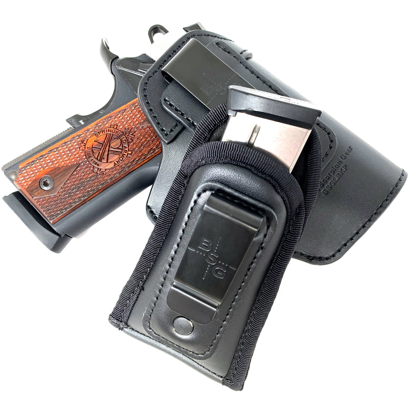 Black Leather Multigun Holster w/ Mag Pouch