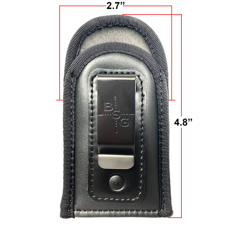 Eco-Leather Double Stack Magazine Pouch 4.8'' x 2.7''