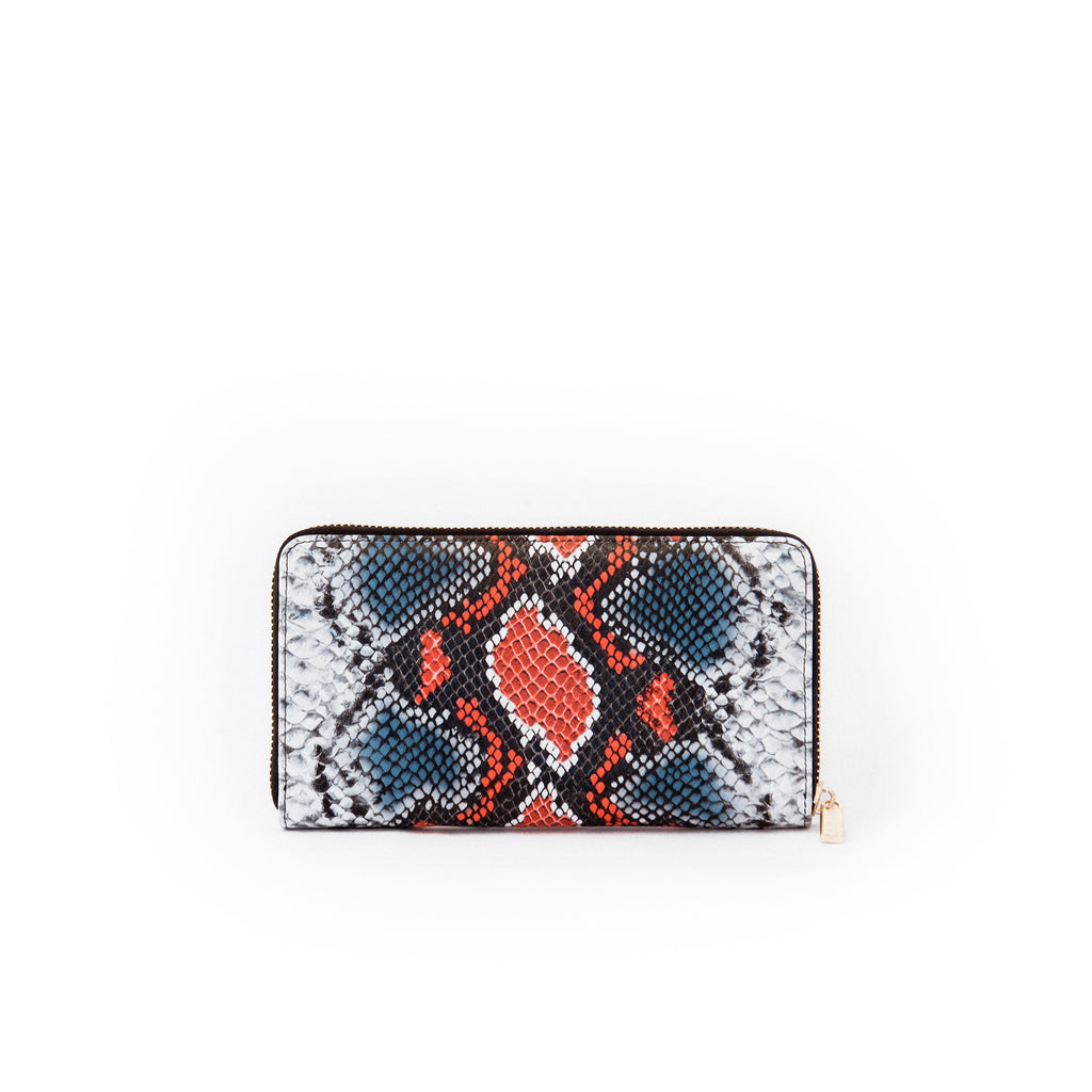 Genuine Leather Python Print Women's Wallet