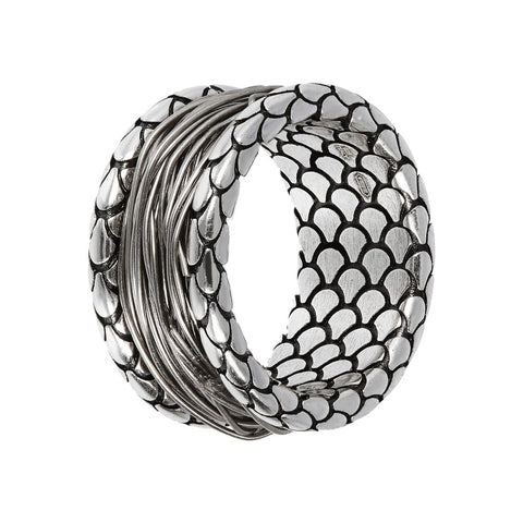ARIA TEXTURED RING WITH WIRE WRAP  - WSOX00357