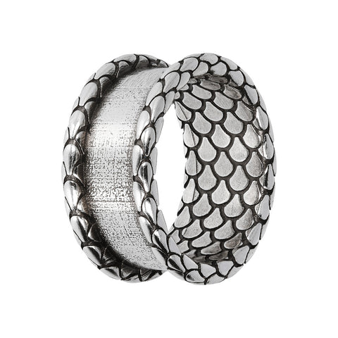 ARIA TEXTURED RING WITH WIRE WRAP  - WSOX00377