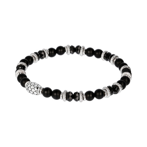 Black Spinel and Black Onyx Mermaid Bracelet