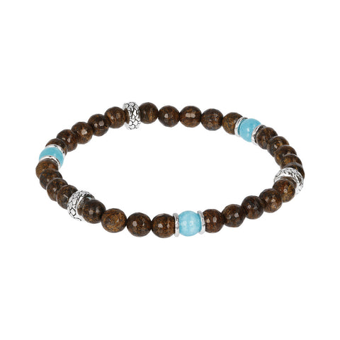 Bronzite and Amazonite Mermaid Bracelet
