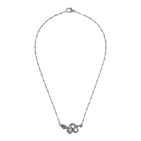 Chain necklace WITH snake PENDANT WITH GEMSTONE  - WSOX00320 intero
