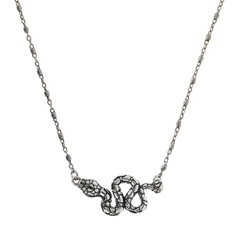 Chain necklace WITH snake PENDANT WITH GEMSTONE  - WSOX00320