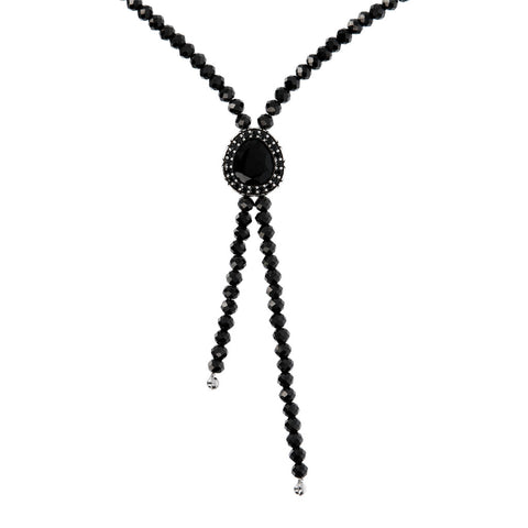 Collana Snake con Black Spinel