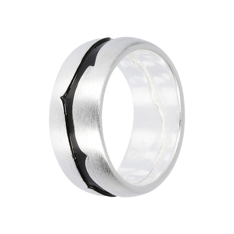 FUOCO BAND RING WITH ROVO ENGRAVED  - WSOX00341