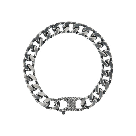 FUOCO SHINY GD MEN BRACLET WITH TEXTURE CLASP  - WSOX00302