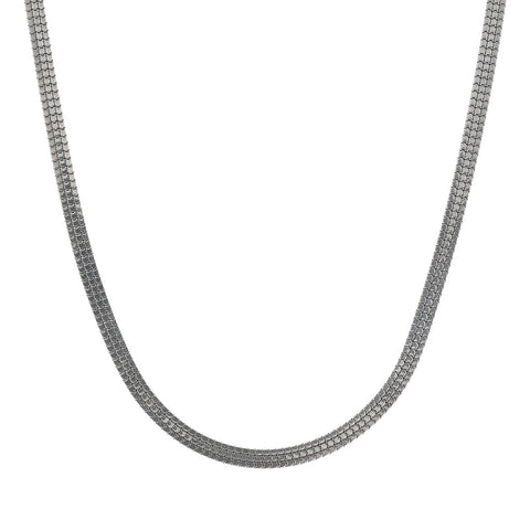 FUOCO SHINY WELDED 3STRANDS BOX NECKLACE - WSOX00380