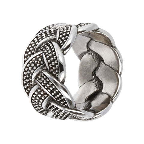 FUOCO braided texture ring  - WSOX00352