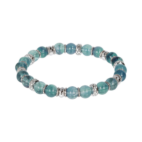 Fluorite Stretch Mermaid Bracelet