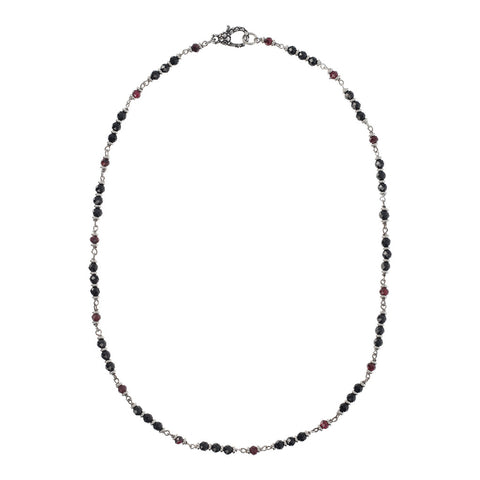 Garnet and Spinel Mermaid Necklace intero