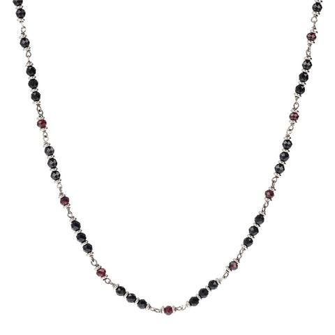 Garnet and Spinel Mermaid Necklace